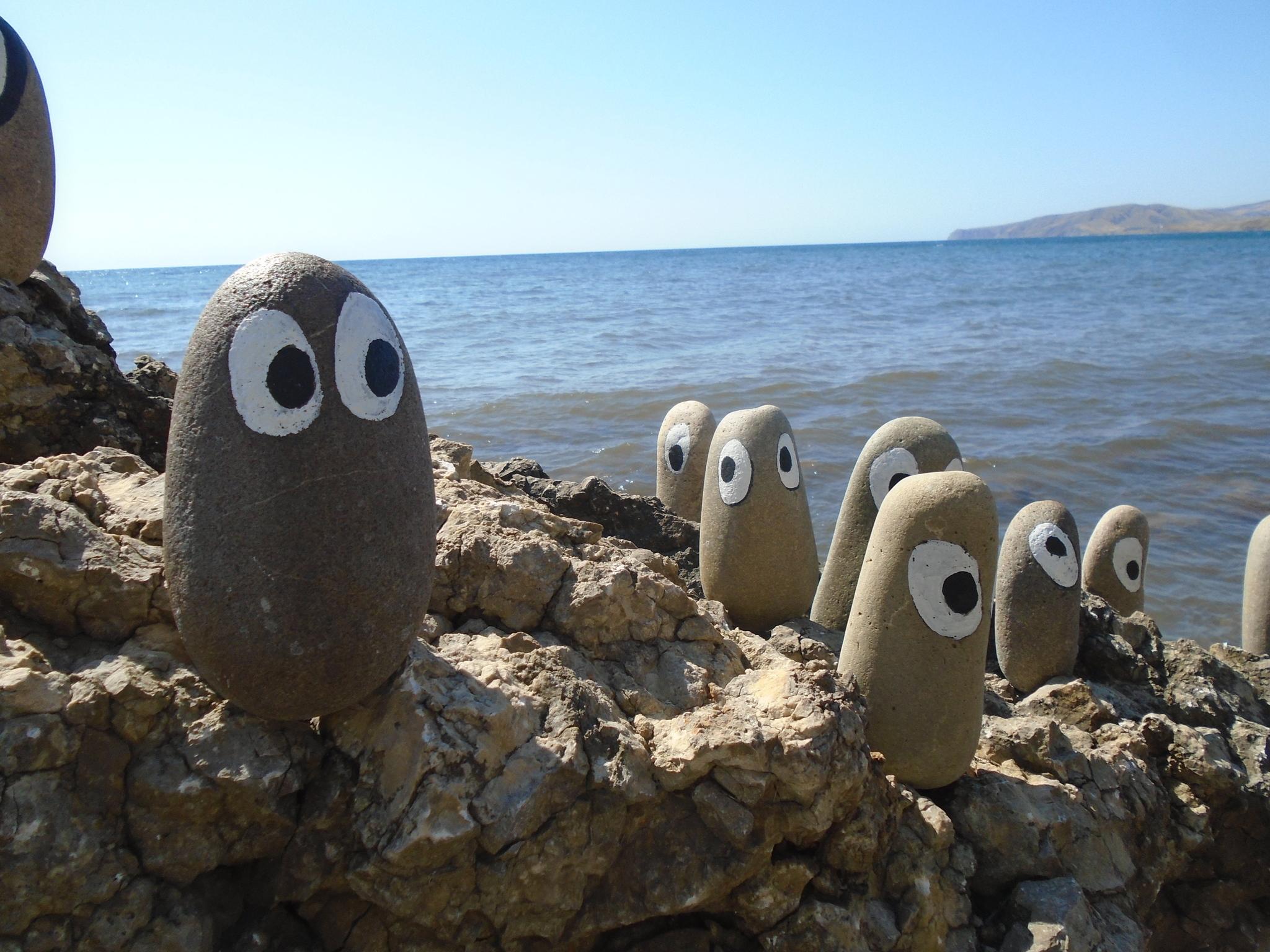 Обои пляж, камни, фигурка. Разное foto 3