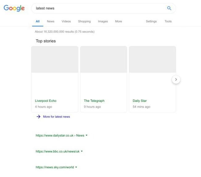 Google показала, как будет выглядеть страница поисковой выдачи в случае принятия «Директивы о копирайте» Технологии, Google, Копирайт, Авторские права, Евросоюз, Блокировки сайтов, Налоги