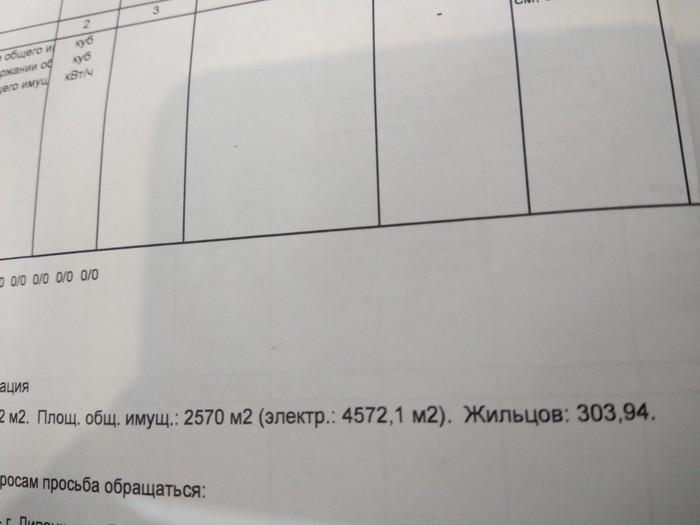 Не целый жилец Коммуналка, Квитанция, Управляющая компания