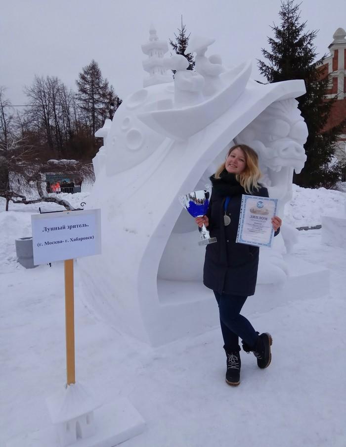 Скульптура из снега Новосибирск, Снежная скульптура, Творчество, Победа, Длиннопост