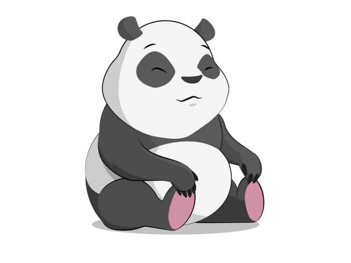 Панда Adobe Illustrator Арт, Рисунок, Векторная графика, Панда, Творчество, Графика, Животные