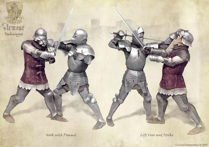 Классический миланский доспех в приемах позднесредневекового фехтования. История, Доспехи, Война, Арт, Рисунок