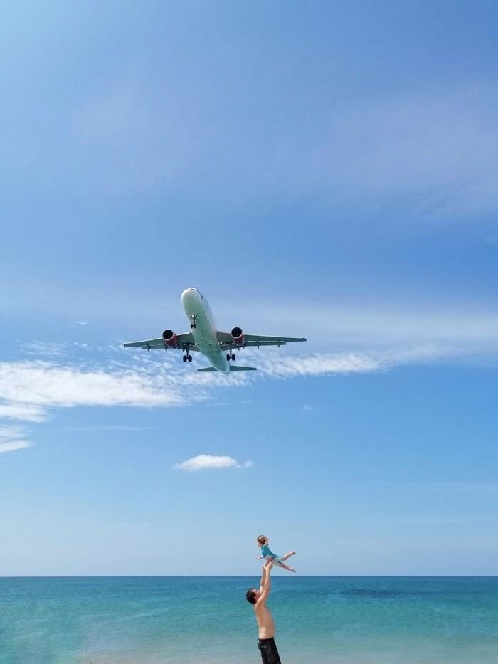 Необычный пляж Пхукета - Майкхао Пхукет, Самолет, Традиции, Таиланд, Майкао, Пляж, Юмор