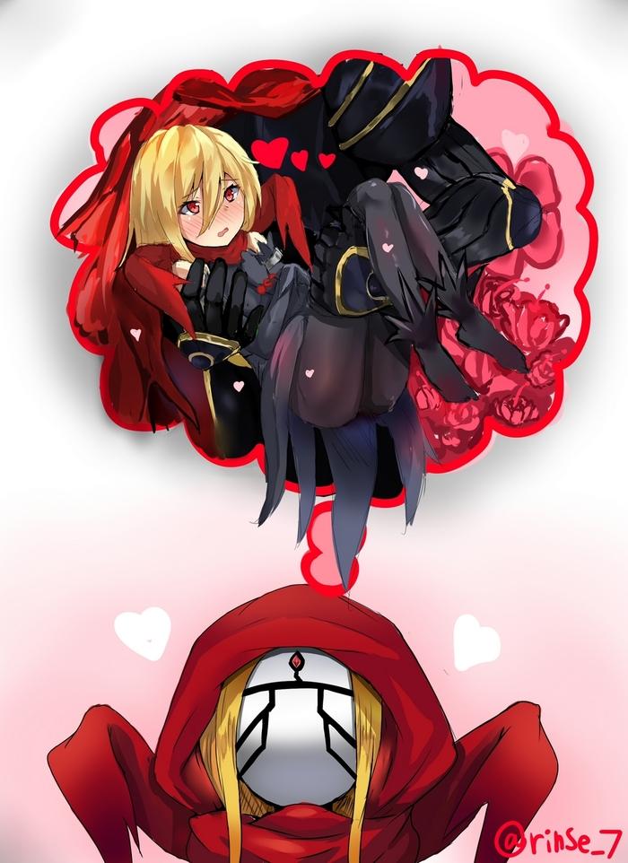 Влюбленная Anime Art, Evileye, Аниме, Overlord, Длиннопост