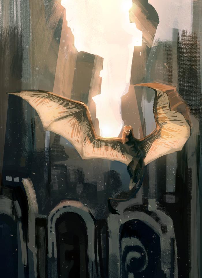 Кошкодракон Арт, The Elder Scrolls Online, Дракон, Рисунок, Цифровой рисунок, Химера, Существа