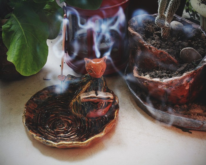 Котэ-подставка для арома-палочек. Керамика. Керамика, Handmade, Ручная работа, Длиннопост