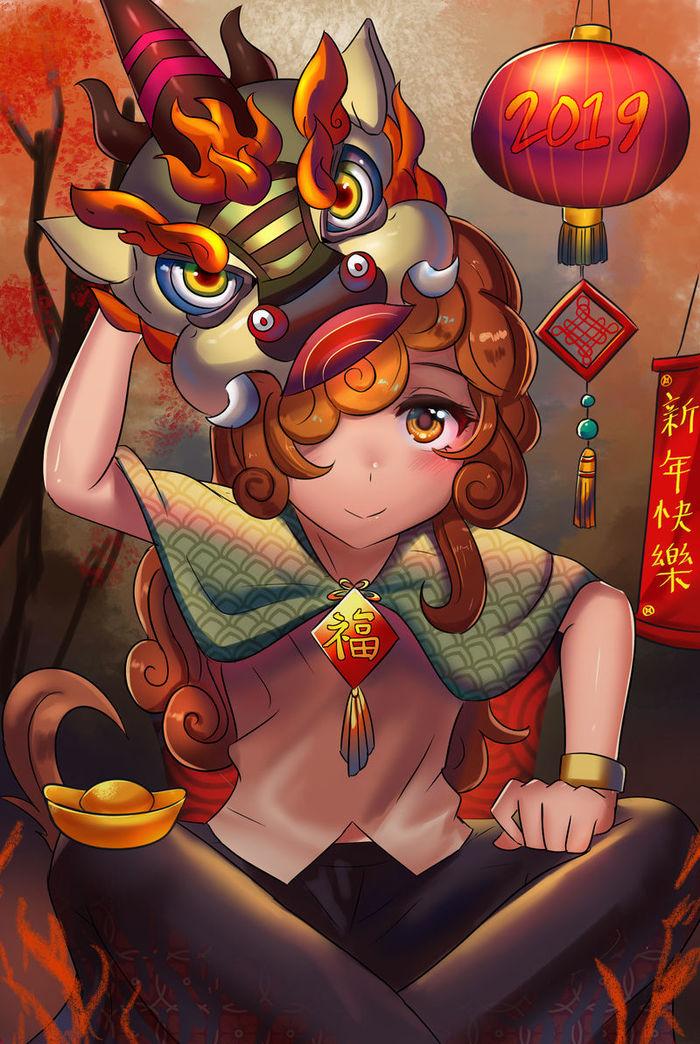 Chinese New Year My Little Pony, Autumn Blaze, MLP Kirin, Хуманизация, Китайский новый год, Tzc