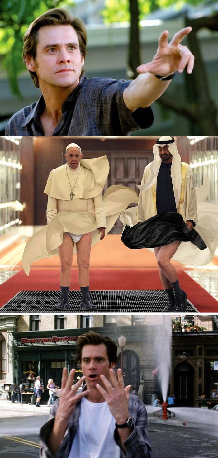 Хейтеры скажут фотошоп! Папа Римский, Прикол, Юмор, Брюс всемогущий, Photoshop