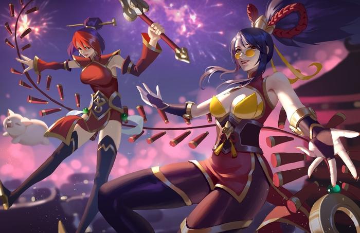 Happy new year! Art Арт, Yus, -Yus-, League of Legends, Sejuani, Vayne