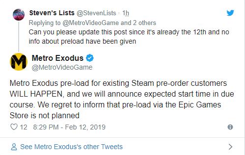 В Steam будет предзагрузка Metro Exodus. Metro Exodus, 4a Games, Steam, Игры, Предзагрузка
