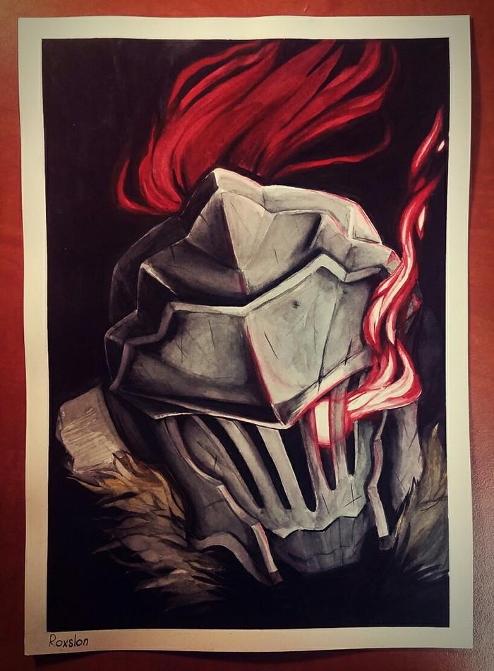Убийца гоблинов Goblin Slayer, Рисунок, Акварель