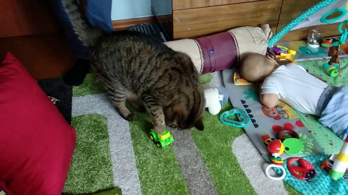 Так, пока он спит, можно с его игрушками поиграть))
