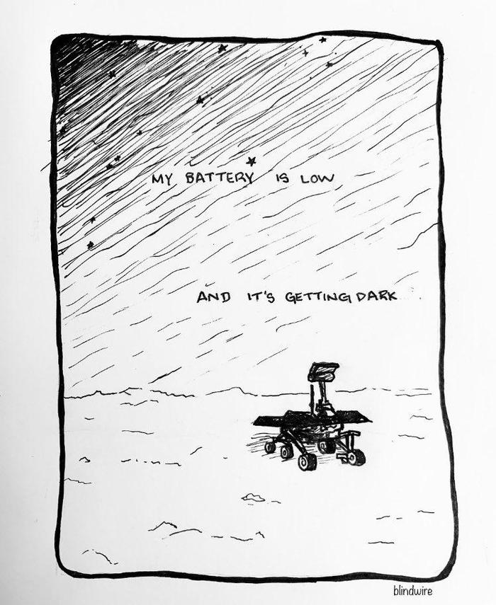 Последние слова марсохода Opportunity Opportunity, Марс