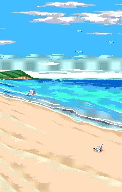 Пиксельные обои на смартфон Pixel Art, Pixels, Обои на рабочий стол, Обои, Обои на телефон, Пиксель, Море, Пейзаж