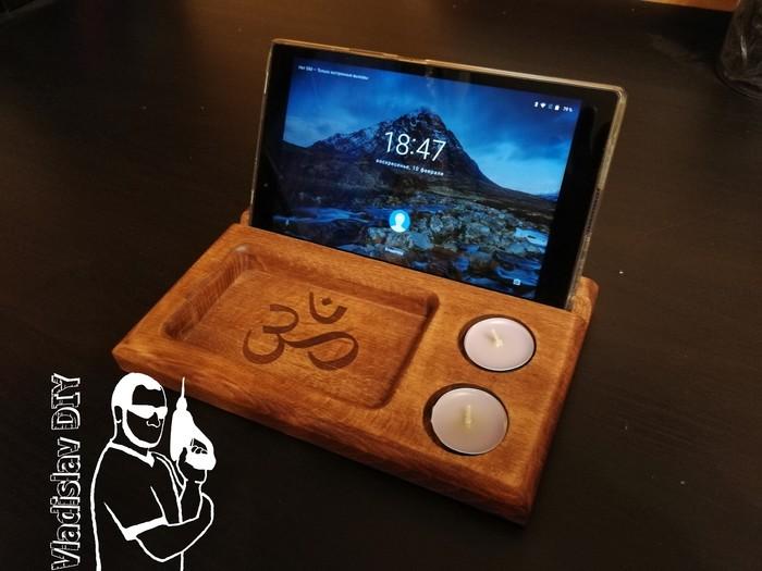 Многофункциональная подставка для планшета из дерева Своими руками, Подставка для телефона, Изделия из дерева, Рукоделие с процессом, Длиннопост, Работа с деревом