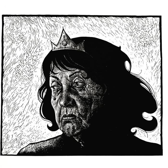 В ожидании принца.. Арт, Искусство, Линогравюра, Портрет, Женщина, Принцесса