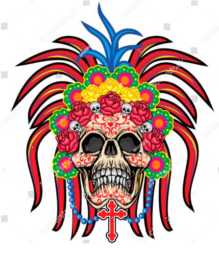 Tribal skull, vintage design t shirts