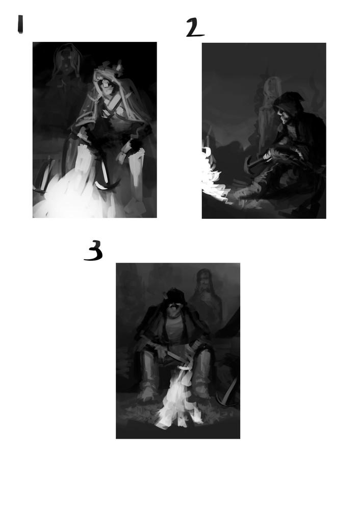Процесс отрисовки персонажа№4 Арт, Эльфы, Dnd 5, Dungeons & Dragons, Рисунок, Цифровой рисунок, Длиннопост, Этапы, Рисование