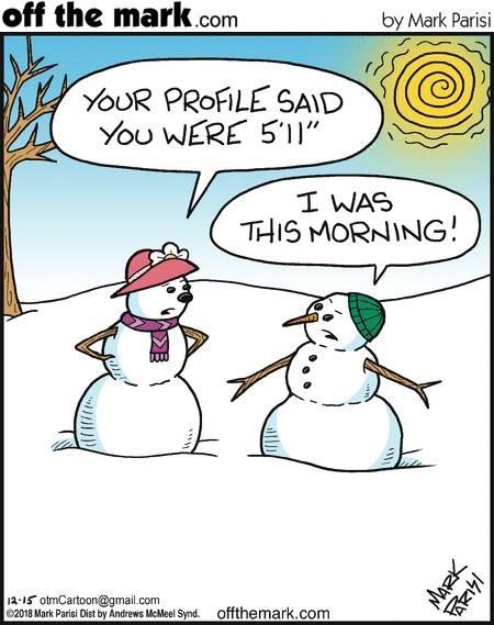 Почему снеговикам нелегко знакомиться онлайн Снеговик, Отношения, Tinder, Offthemark