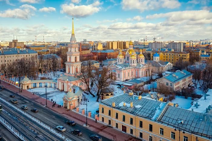 Максимум духовности в одном фото Санкт-Петербург, Аэросъемка, Храм, Церковь, Собор