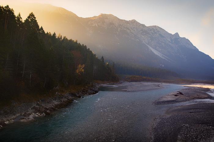 Рассвет над Альпами - Австрия Альпы, Австрия, Рассвет, Пейзаж, Горы, Фотография