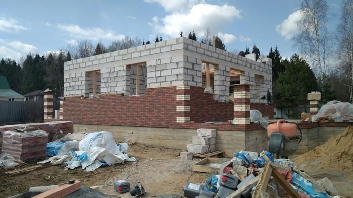 Как я дом построил_6 Строительство, Дом, Кирпичи, Дача, Длиннопост