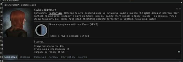 Когда твой сокорп не очень умён. Eve Online, Игры, Должность, Скриншот, Тиммейты