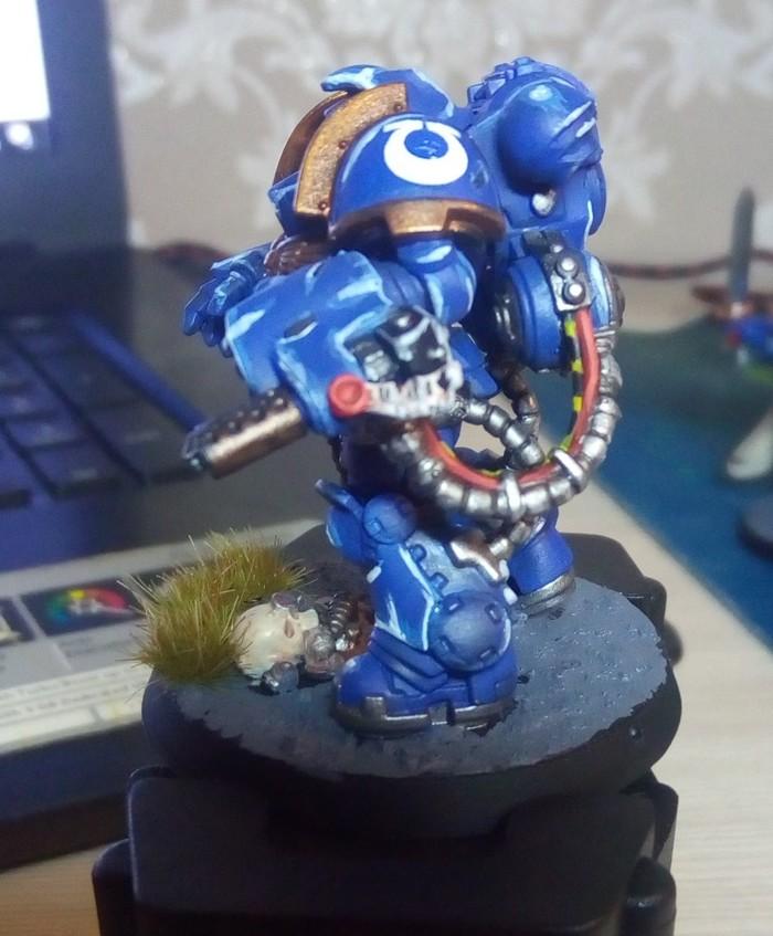 Игровой покрас PRIMARIS AGGRESSOR Warhammer 40k, Primaris Space Marines, Ultramarines, Покраска миниатюр, Длиннопост