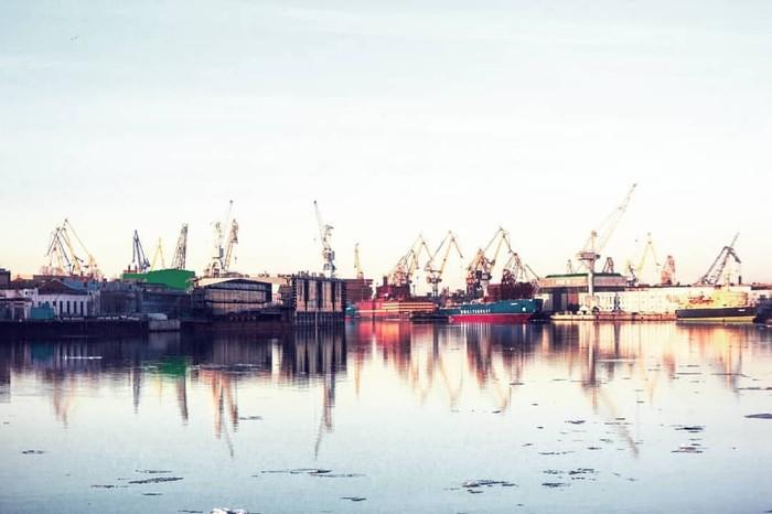 Две набережные Море, Санкт-Петербург, Набережная, Город, Городские пейзажи, Длиннопост, Фотография
