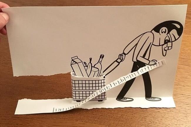 Хочу все знать #151. Художник создает рисунки с помощью рваной бумаги Хочу все знать, Художник, Бумага, Дания, Huskmitnavn, Длиннопост