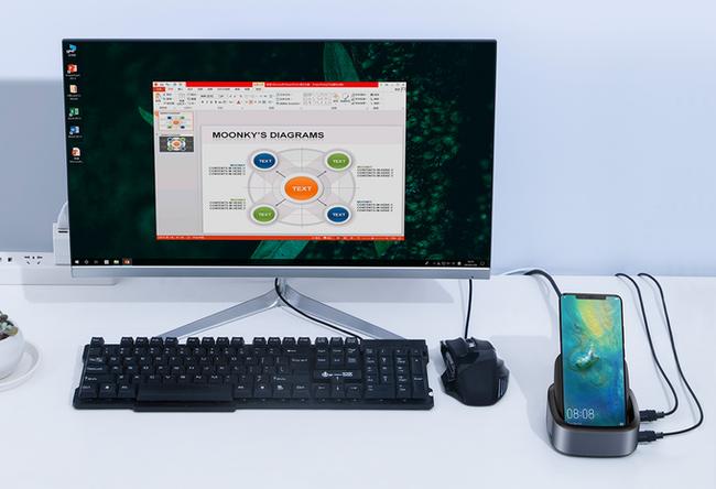 NuDock: превращает смартфон в настольный компьютер Kickstarter, Indiegogo, Гаджеты, Смартфон, Настольный компьютер, Гифка, Длиннопост