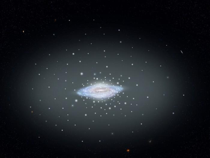 """""""Хаббл"""" и """"Гайя"""" выяснили сколько весит Млечный Путь Астрономия, Астрофизика, Млечный путь, Галактика, Копипаста, Длиннопост"""