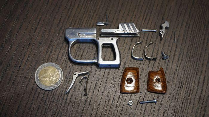Миниатюрный брелок-пистолет Хобби, Оружие, Своими руками, Миниатюра, Огнестрел, Статья, Видео, Длиннопост