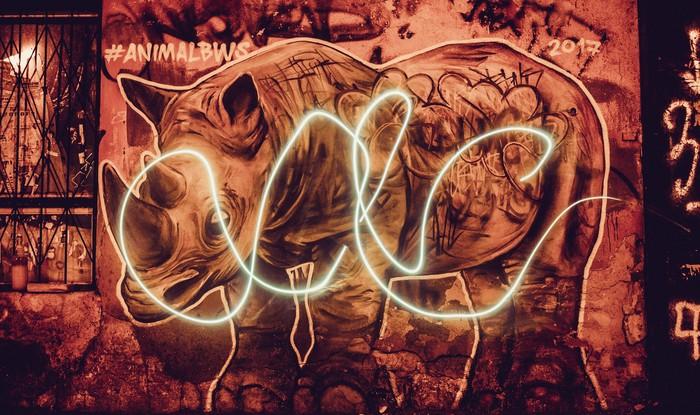 Игра с выдержкой Стрит-Арт, Фотография, Длинная выдержка, Вечер, Одесса, Свет, Улица