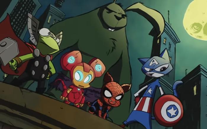 Мстители в альтернативной вселенной.