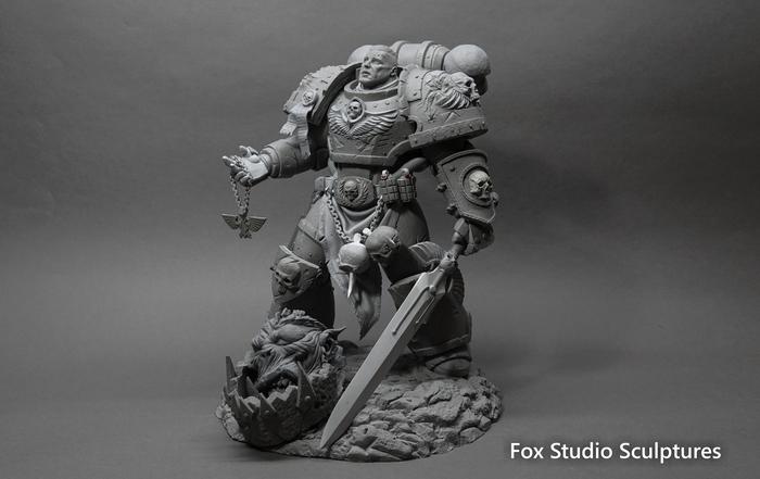 Космодесантник Империума Warhammer 40000 Warhammer 40k, Ручная работа, Модели, Полимерная глина, Лепка, Warhammer, Длиннопост