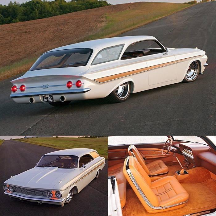 Изумительный универсал Chevrolet Impala Bubbletop 1961 года