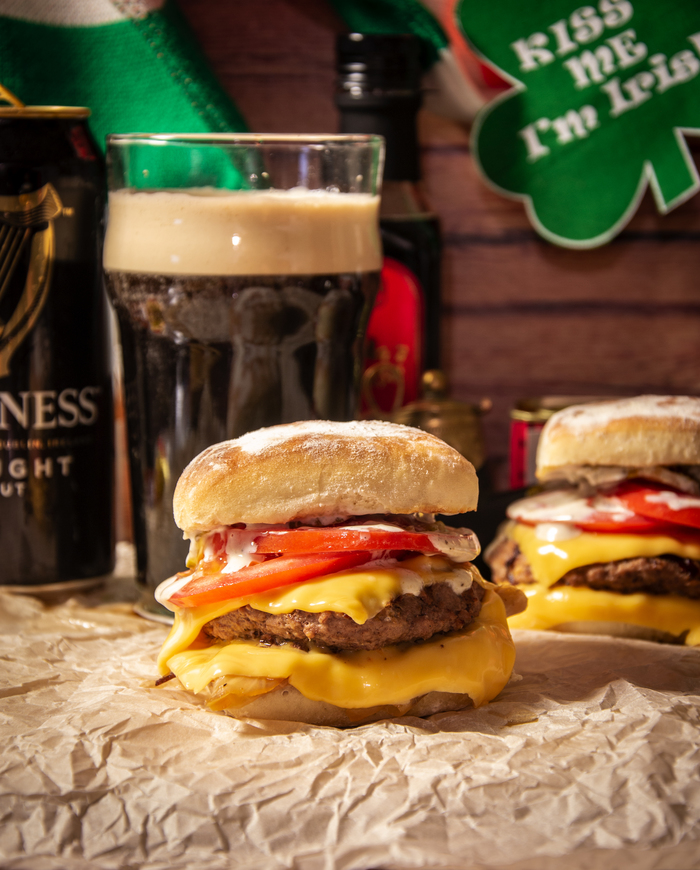 "Бургер ""Святой Патрик"" Еда, Рецепт, Бургер, Кулинария, Мясо, Ирландия, Dinoburger, Длиннопост"