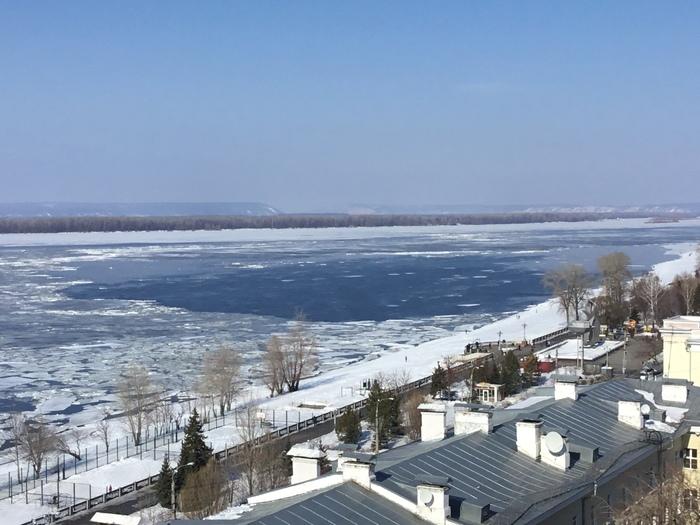 Весна пришла! Самара, Волга, Лед, Весна, Фотография