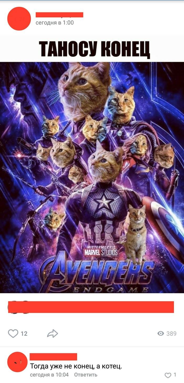 Война бесконечности Мстители, Кот, Конец, Танос, Мстители: Финал