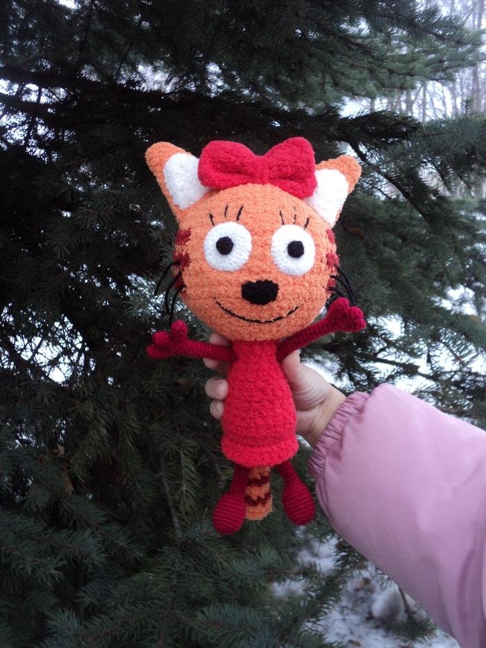 """Карамелька из МФ """"Три Кота"""" Игрушки, Карамель, Трикота, Подарок, Подарок ребёнку, Вязаные игрушки, Вязание, Ручная работа, Длиннопост"""