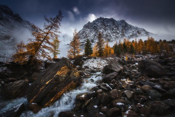Алтай, первый снег в долине Актру Алтай, Горы, Актру, Сибирь, Туризм, Фотография, Природа, Пейзаж