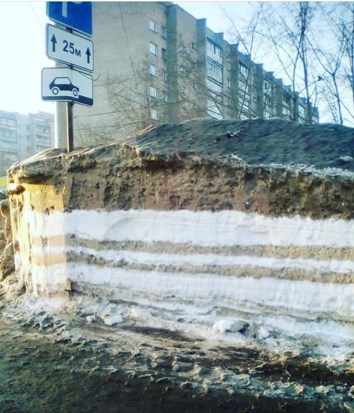 Сугробы в Новосибирске