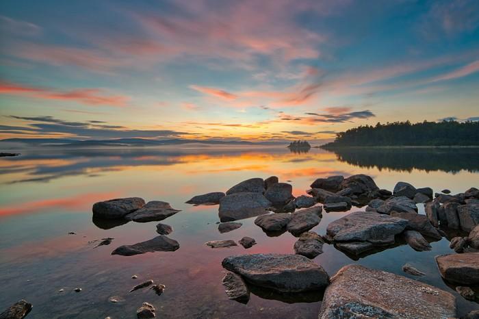 Летний вечер на Большом Кисегаче Южный Урал, Фотография, Hdr, Пейзаж, Челябинская область