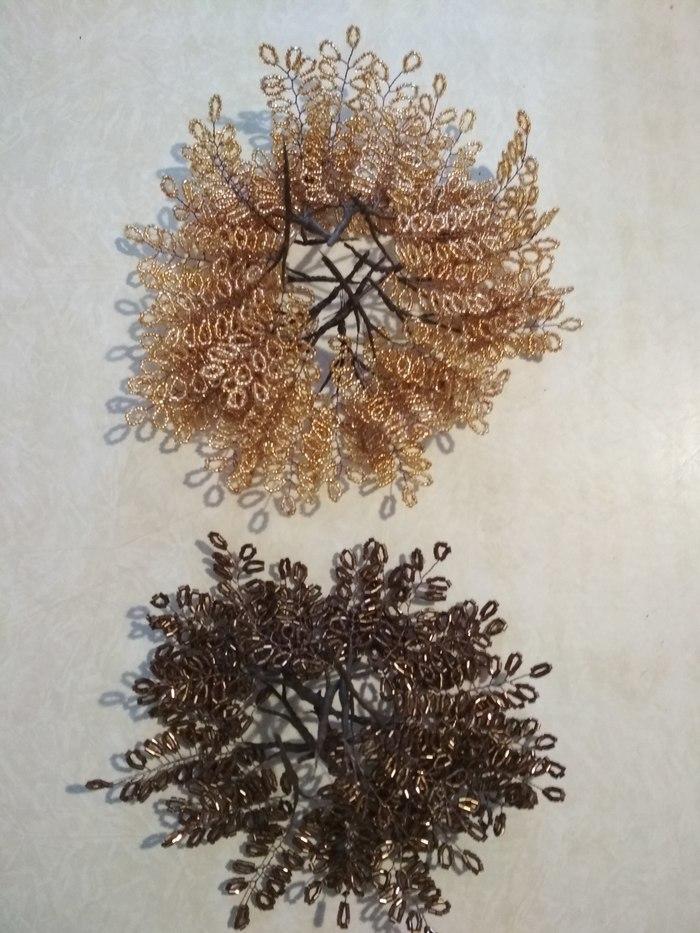 Деревце (сотворила своими руками) Ручная работа, Бисер, Дерево, Длиннопост