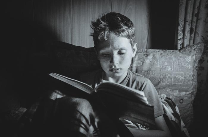 Случайный портрет Фуджи, Монохром, Фотография, Портрет, Чтение