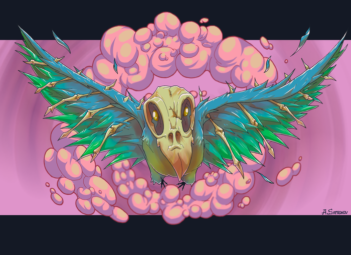 FLY_BIRD_FLY Птицы, Арт, Цифровой рисунок, Гифка, Этапы, Photoshop, Рисунок