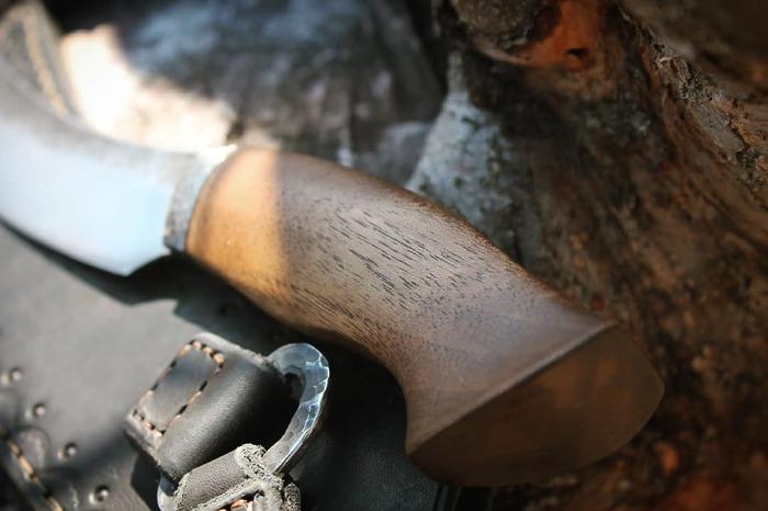 Ножик для походов за грибами-мутантами. Нож, Ковка, Рукоделие без процесса, Длиннопост