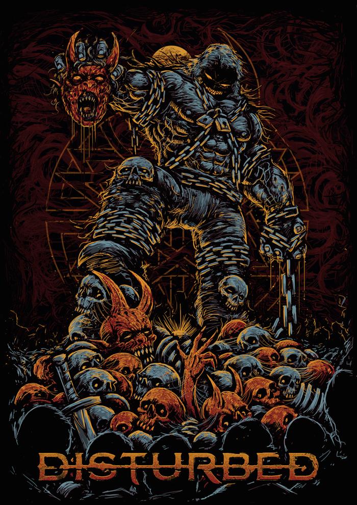 The guy. Disturbed Disturbed, The Guy, Обложка, Фан-Арт, Длиннопост, Музыкальная группа, Музыка, Рисунок, Цифровой рисунок