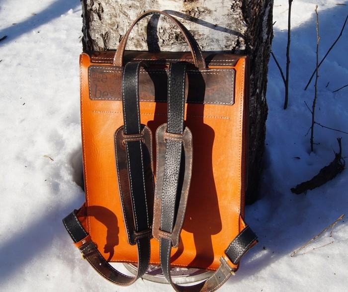 Рюкзак из натуральной кожи. Своими руками, Рукоделие без процесса, Рюкзак, Кожа натуральная, Длиннопост